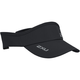2XU Run Visiera, black/black